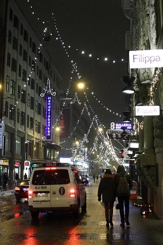 Aleksanterinkatu Christmas lights
