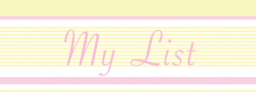My List Header