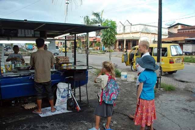 Buying martabak