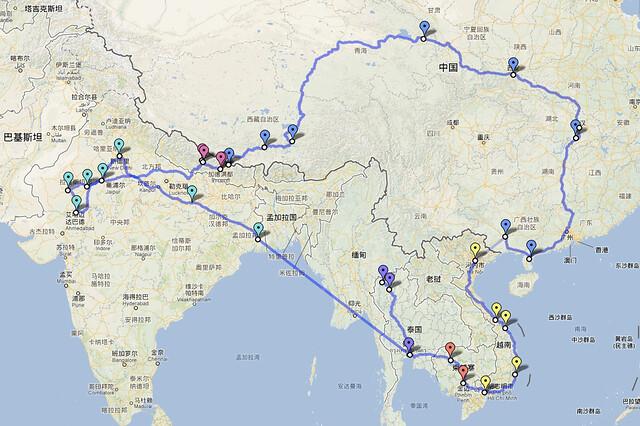 五国行路线图