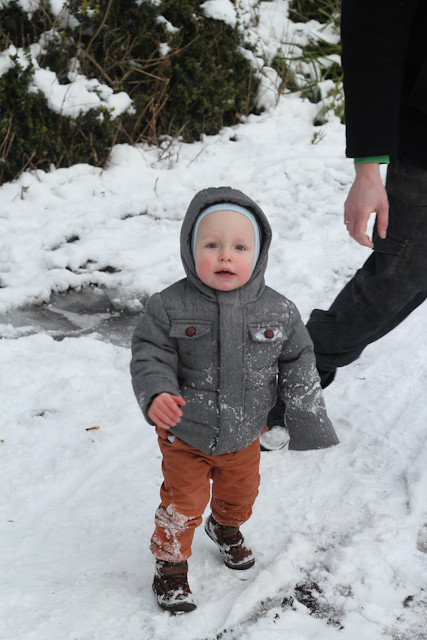 Little Man in snow