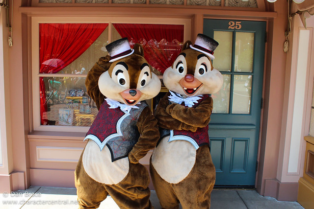Meeting Halloween Chip 'n' Dale