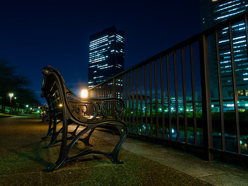 light building japan architecture night lumix landscapes osaka nightview gf2