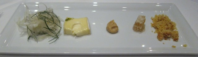 Cheese, honeycomb, fennel, cornbread