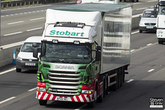 Scania R480 6x2 Tractor - PX61 BBJ - Eloise Eve - Green & Red - Eddie Stobart - M1 J10 Luton - Steven Gray - IMG_9027