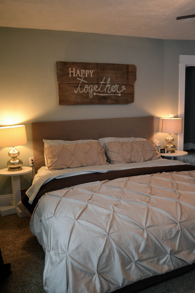 Happy Together Barn Wood Sign And Bedroom Spruce Up Newlywoodwards