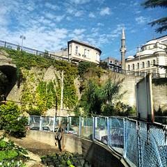 Viaducto, mezquita y jardín comunitario