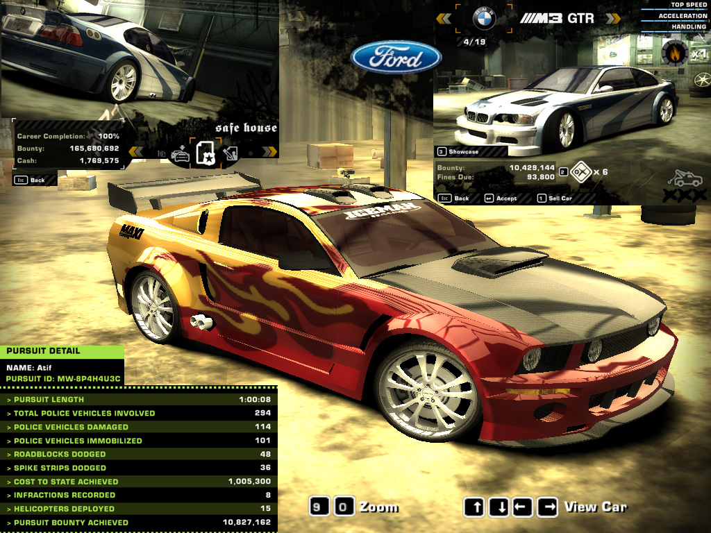 Customize ford mustang gt need for speed most wanted nov 2005