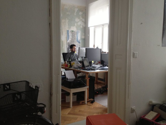 Alper's workplace at Praxis