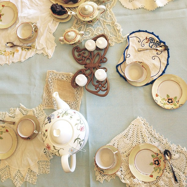 A fancy tea party hosted by Miss Lu.