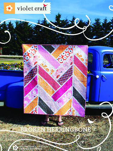 Broken Herringbone Quilt Pattern Cover