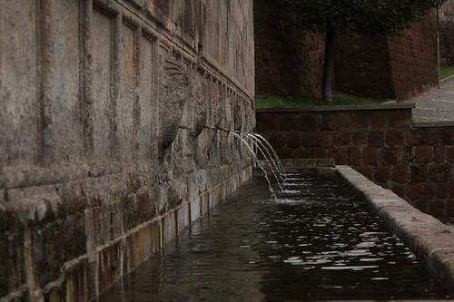 Tuscania: fontana delle sette cannelle