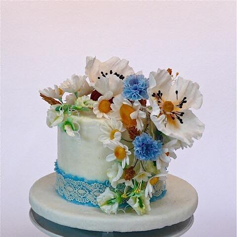 Spring Flowers Cake by Elena Tuck of Elena's Delights