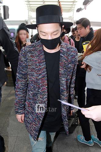 Big Bang - Incheon Airport - 21mar2015 - Tae Yang - FN Star - 01