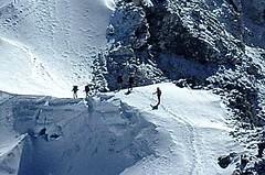 Expedition Cho Oyu. Aufstieg zum Lager 2, Nordwest-Flanke. Foto: Archiv Härter.