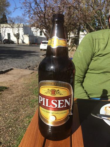 Colonia del Sacramento: première bière urugayenne testée. Très bonne !
