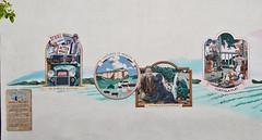 John Steinbeck Mural (left side)