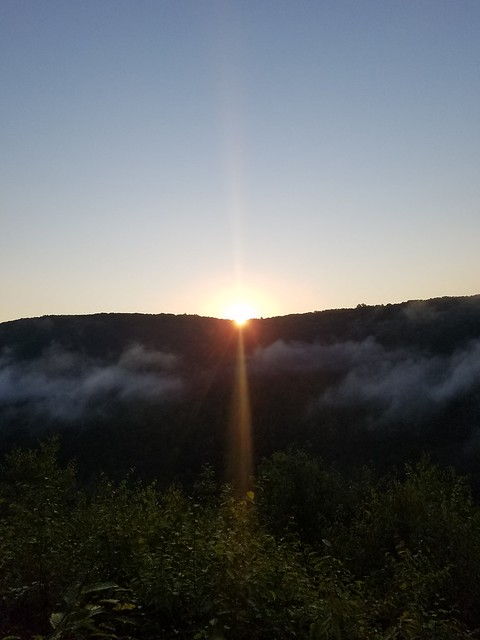 Sunrise over the gorge