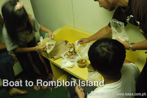 Dinner at the boat from Batangas Port to Romblon Island