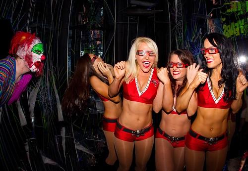 Buccaneers Cheerleaders at Howl-O-Scream 2012