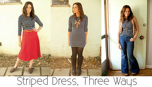 striped dress, three ways