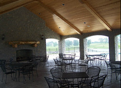 Pavilion by the pool at Equestrian Lakes in Shelby County KY