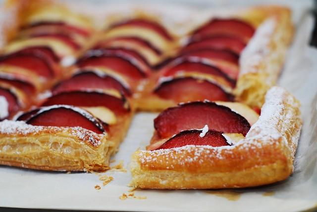 plum and apple tart puff pastry 5