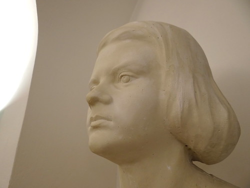 Bust of Sophie Scholl - White Rose Memorial Room - Interior of Main Building of Ludwig-Maximilians-Universitat - Munich - Germany - 01