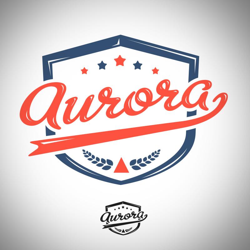 aurora script logo