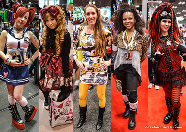 NY Comic Con women in everyday dress