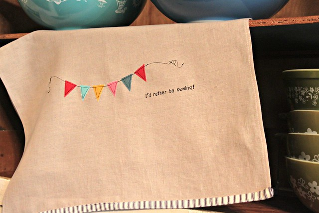 The Seamstress Tea Towel -- Tutorial for Janome