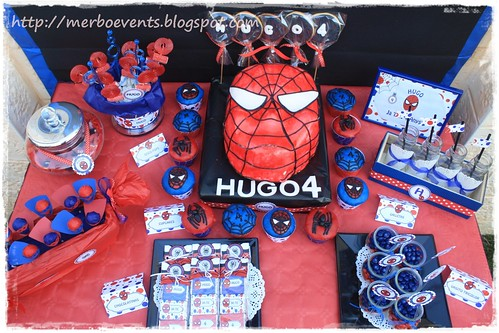 Candy bar4. Kit de fiesta spiderman. Merbo events