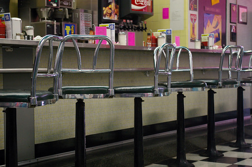 Stools at the counter II