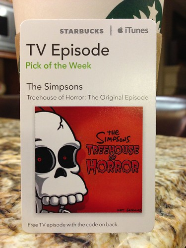 Starbucks iTunes Pick of the Week - 10/16/12 - The Simpsons - Treehouse of Horror: The Original Episode