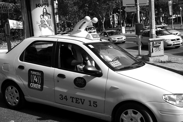 A strange Turkish taxi in Istanbul