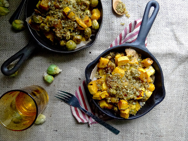 maple cider glazed brussels + delicata {gf}
