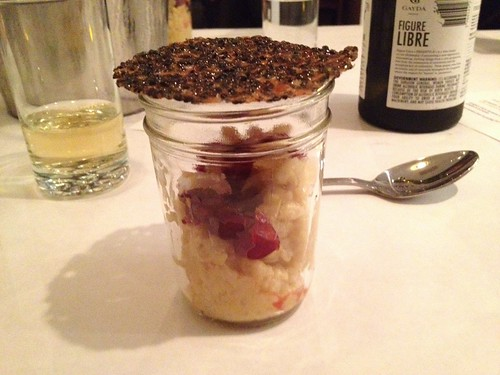 Pumpkin Rice Pudding with Sesame Lace Cookie at Southport Grocery Secret Supper