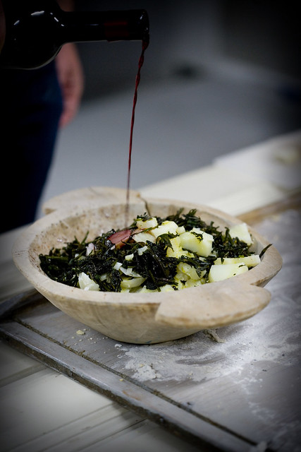 potato salad with nettle hop and red wine