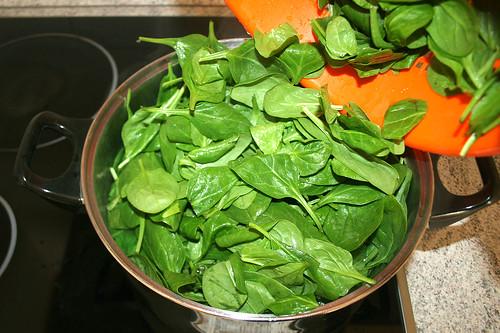 14 - Spinat hinzufügen / Add spinach