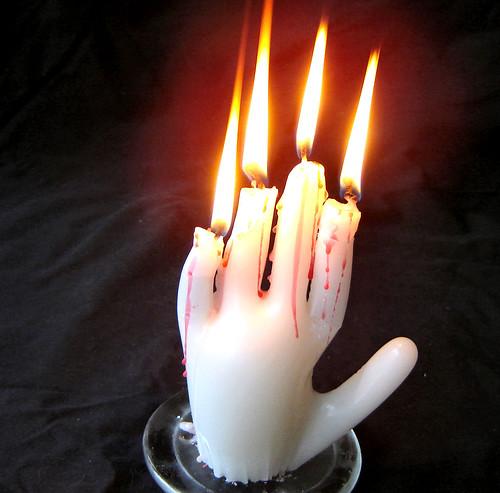 Mano candelero
