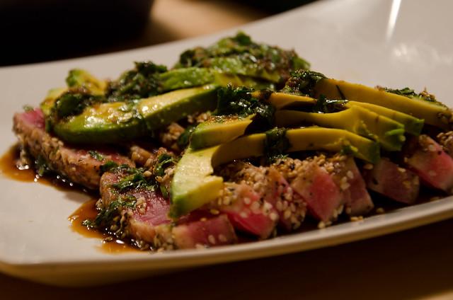 pan-seared sesame-crusted tuna sashimi   Flickr - Photo Sharing!