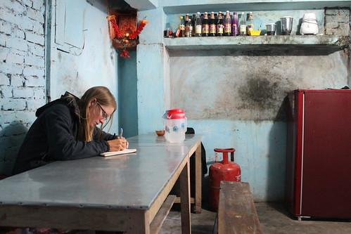 Diary writing in Munsyari