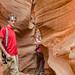 Water Holes Slot Canyon, Page, Arizona -- Walter and John at the entrance by jimf_29605
