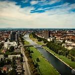 Mannheim vom Fernmeldeturm am Louisenpark