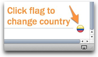 Click flag to change iBookstore country