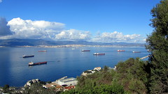 View from the Pillars of Hercules, Gibraltar