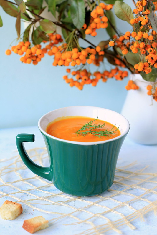 pumpkin soup with tomatoes