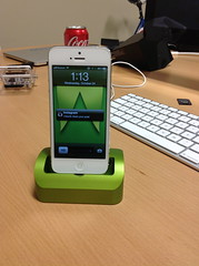 elevation dock with 3D printed lightning cable holders