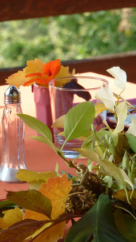 Tablescape in Orange