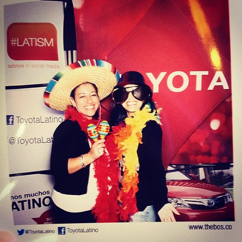 @mommaofdos and I at the #toyota booth. #swag #latism #latism12 #latismhou